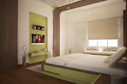 Apartment at Ajmera Infinity: modern Bedroom by ACE INTERIORS