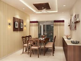 4 bedroom apartment at SJR Watermark: modern Dining room by ACE INTERIORS