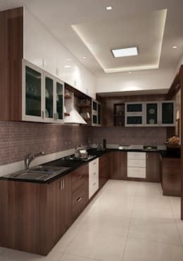 4 bedroom apartment at SJR Watermark: modern Kitchen by ACE INTERIORS