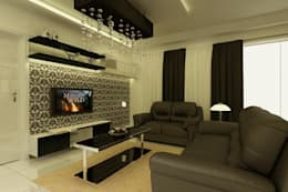 Project at Elita Promenade: modern Living room by ACE INTERIORS