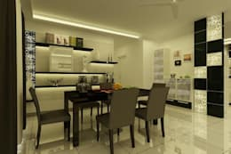 Project at Elita Promenade: modern Dining room by ACE INTERIORS