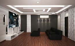 4 bedroom Villa at Prestige Glenwood: modern Media room by ACE INTERIORS
