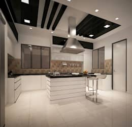 4 bedroom Villa at Prestige Glenwood: modern Kitchen by ACE INTERIORS