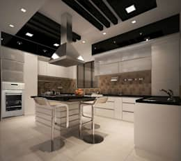 4 bedroom Villa at Prestige Glenwood: modern Kitchen by ACE INTERIORS