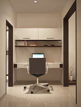 Apartment at Adarsh Palm Retreat: modern Study/office by ACE INTERIORS