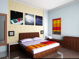 Apartment at Bannerghatta Road: modern Bedroom by ACE INTERIORS