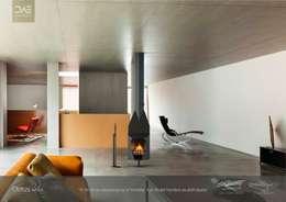 Chimenea / Fireplace Mod. CLOTUS: Hogar de estilo de DAE chimeneas