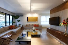 Salas multimedia de estilo moderno por Luciana Savassi Guimarães arquitetura&interiores