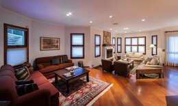 Livings de estilo rústico por VNK Arquitetura e Interiores