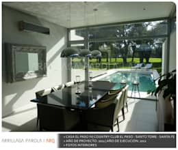 Casa El paso IV: Piletas de estilo moderno por ARRILLAGA&PAROLA