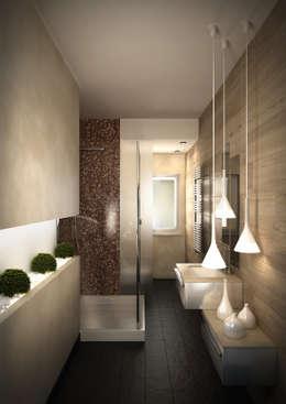 lavori bagno in stile in stile moderno di mezzettidesign