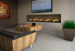wall fire: moderne Wohnzimmer von muenkel design