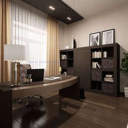 Нягань. Дизайн кабинета в ардеко от Батенькофф: Рабочие кабинеты в . Автор – Дизайн студия 'Дизайнер интерьера № 1'