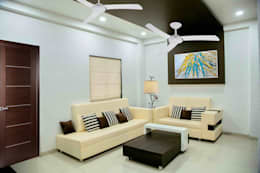 3 BHK Sample Flat: modern Living room by ZEAL Arch Designs