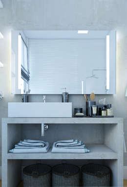 salle de bain en béton ciré: Salle de bains de style  par Agence KP