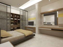 Mr.Afsar - LANCO HILLS:   by vasantha architects and interior designers
