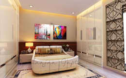 mom's bedroom: modern Bedroom by Neelanjan Gupto Design Co