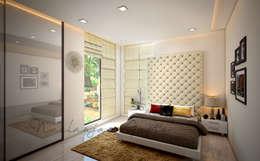 Nisar's bungalow: modern Bedroom by Neelanjan Gupto Design Co