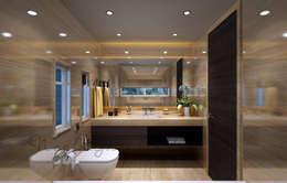Nisar's bungalow: modern Bathroom by Neelanjan Gupto Design Co