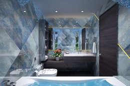 modern Bathroom تنفيذ Neelanjan Gupto Design Co