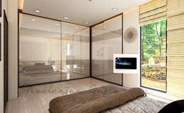 modern Bedroom تنفيذ Neelanjan Gupto Design Co