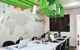 Oficinas de estilo moderno por santiago dussan architecture & Interior design