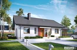 modern Houses by Pracownia Projektowa ARCHIPELAG
