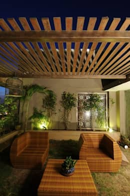 LIVING WITH NATURE:  Terrace by Archana Shah & Associates