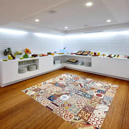 Paredes y pisos de estilo moderno por MOSAIC DEL SUR