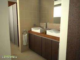 Baños de estilo moderno por ARQUITECTURA SOSTENIBLE
