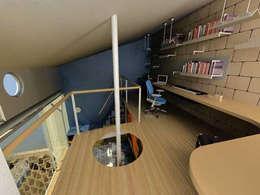Casa Metepec: Estudios y oficinas de estilo moderno por ARQUITECTURA SOSTENIBLE