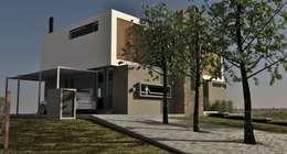Vivienda Unifamiliar en Barrio el Canton: Casas de estilo moderno por Estudio Maraude Arquitectos