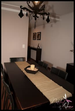 Salas de jantar ecléticas por Diseñadora Lucia Casanova