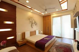 SAMPLE FLAT: modern Bedroom by Spaces Architects@ka
