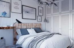 scandinavian Bedroom by Elena Arsentyeva