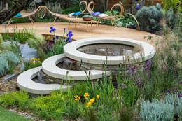 Jardín de estilo  por Alcantara Stone Corporation