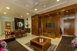 Abhiskhek's Appartment: modern Living room by P & D Associates