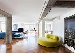 Projekty,  Salon zaprojektowane przez RSRG Arquitetos
