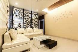 Model Flat: modern Living room by Design Cafe