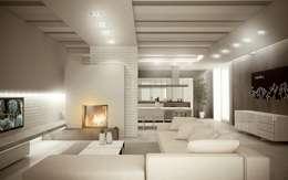 Livings de estilo moderno por Giuseppe DE DONNO - architetto