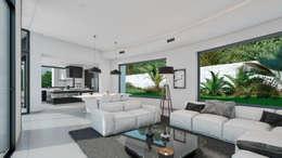 Livings de estilo moderno por Miralbó Excellence