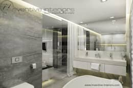 Marmur w łazience: styl , w kategorii Łazienka zaprojektowany przez Inventive Interiors