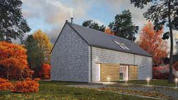 Uniwersalny plus premium #3: styl nowoczesne, w kategorii Domy zaprojektowany przez INDEA
