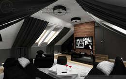 Salas multimedia de estilo moderno por Inventive Interiors