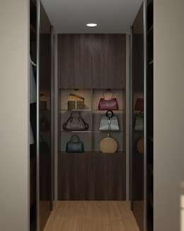 Dressing de style de style eclectique par Brama Architects