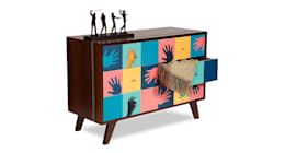 Hands Cabinet: modern Living room by Square Barrel