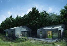 Estudios de cubierta inclinada 4: Casas de estilo moderno de ecospace españa