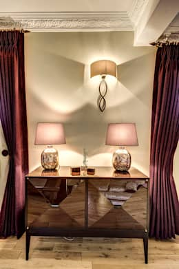 Projekty,  Salon zaprojektowane przez Chameleon Designs Interiors