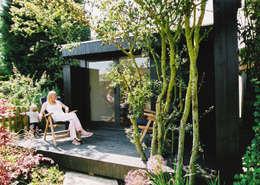 Estudios de cubierta plana 6: Casas de estilo moderno de ecospace españa