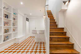 modern Corridor, hallway & stairs by PictHouse